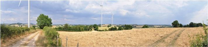 Photomontage du parc éolien de La Chapelle au Mans
