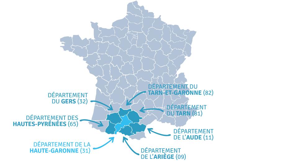 Projets réservés aux départements 31, 52, 65, 09, 11, 81, 82